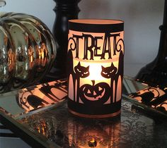 Halloween Trick or Treat Cat Luminary by Rob & Bob. Make It Now in Cricut Design Space