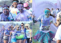 Color Run on Maui with 7,000 runners.