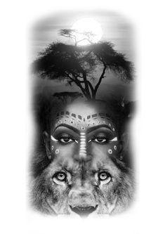 Black Art Painting, Black Artwork, Dna Tattoo, Body Art Tattoos, Tattoo Sketches, Tattoo Drawings, Red Indian Tattoo, African Drawings, African Tribal Tattoos