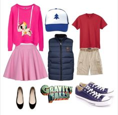 Mabel and Dipper Pines/ Gravity Falls for trunk or treat um...I think YES!!!