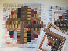 almazuelas Log Cabin Quilts, Quilt Blocks, Stencils, Quilting, Challenge, Houses, Blanket, Tela, Scrappy Quilts