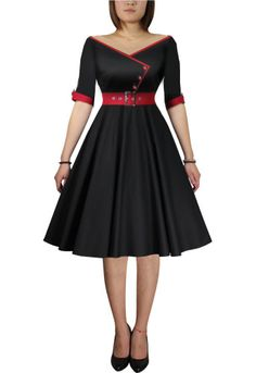 Rockabilly Dress- love the design, except would like the shoulders higher to accommodate straps.!