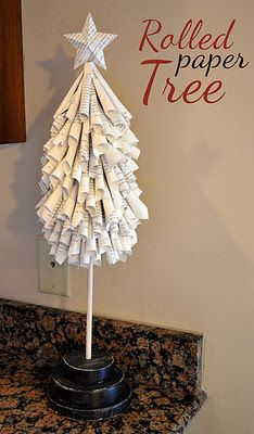 rolled paper tree how to