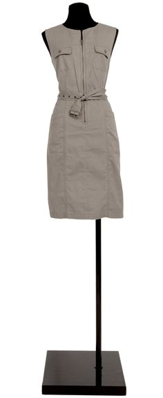 1.2.3 Paris - Robe Nine 89€ #kaki #saharienne #zippe #mode #printemps #ete #123
