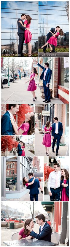 Downtown Vintage Engagement Photos Ideas and Poses Vintage Engagement Photos, Engagement Shots, Engagement Pictures, Wedding Photos, Cute Photography, Couple Photography Poses, Engagement Photography, Couple Posing, Couple Shoot