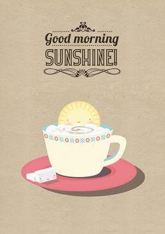 Good morning Sunshine!   annalisabernabovi   Illustrator & graphic designer.  Tags: digital, illustration, pattern, sun, funny, texture, bright colors