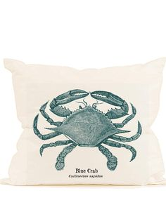 Vintage blue crab digital download image sealife teal ocean transfer to fabric burlap paper pillows cards tote bags towels No. 593