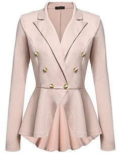 18caff0ab KEDERA Women's Work Office Blazer Casual Long Sleeve Open Front Jacket With  Buttons Casual Blazer,