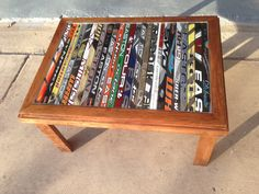 hockey stick table. ruemoody