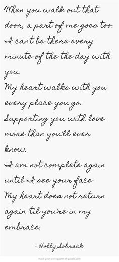 My heart is with you!