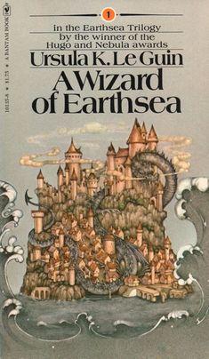 Covers: A Wizard of Earthsea by Ursula K. Fantasy Books To Read, Fantasy Book Covers, Best Book Covers, Vintage Book Covers, Vintage Books, Cool Books, Sci Fi Books, I Love Books, Big Books