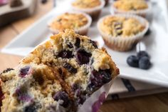 Paleo Blueberry Lemon Fig Muffins @ meritandfork.com