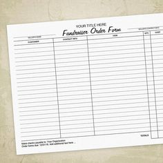 Free Fundraiser Order Form Template Besttemplates123