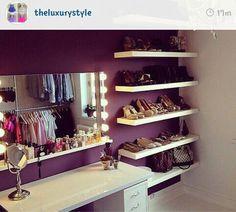 Closet idea  credit: @theluxurystyle on instagram