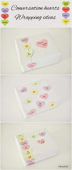 Vikalpah: Conversation hearts inspired gift wrapping ideas