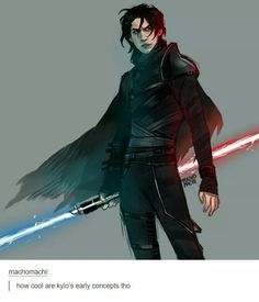 "Based on early designs from when he was simply ""Jedi Killer""."