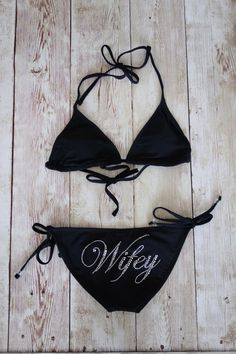 Bride Bikini Top & Bottom Bride Swimwear by TheLittleBridalShop, $28.00