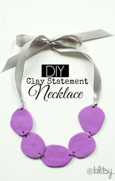 Blitsy Crafts: DIY Clay Statement Necklace