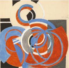 Frantisek Kupka Disques dynamiques / Dynamic disc Gouache sur papier / Gouache on paper 27.9 x 28.3 cm 1934 - 1935