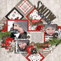 Winter Scrapbook Layout | 12X12 Page | Scrapbooking Ideas | Creative Scrapbooker Magazine #scrapbooking #winter