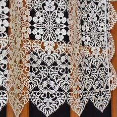 French macrame curtain available in custom sizes, curtains are made to the customers exact specification. Direct from French manufacturer, expert in lacemaking since