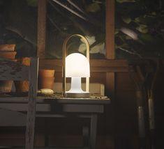 Lampe baladeuse LED rechargeable d extérieur Chªne Blanc H28 8cm