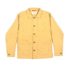 Image of Afield Station Jacket Yellow - Twill
