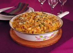 Clique e veja a receita de Macarrão cremoso de frigideira! Também veja dicas de como fazer Macarrão cremoso de frigideira com ingredientes deliciosos e se tornar um verdadeiro chef de cozinha!