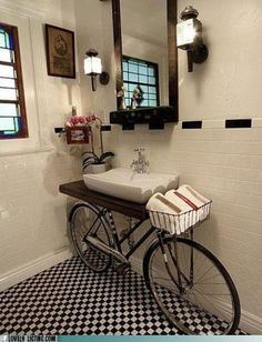 Unique bathroom vanity ideas. / Randy will never go for this, but I love it!