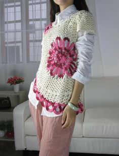 crochet lace beauty dress for girl - crafts ideas - crafts for kids Crochet Shirt, Crochet Lace, Crochet Sweaters, Clothes Hooks, Crafts For Girls, Knitting Projects, Summer Outfits, Summer Clothes, Free Pattern