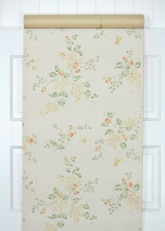 Our vintage wallpaper is sold by the yard.  This authentic vintage wallpaper was printed in the 1950's. It is actual vintage stock, not a