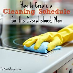 cleaning schedules for moms