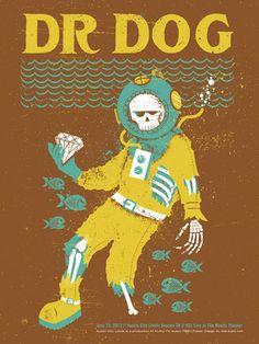 Dr. Dog #GigPoster #Band #MusicPoster #LivePoster