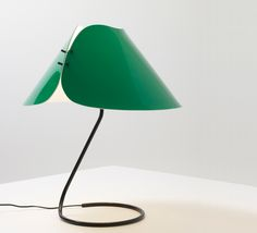 Vico Magistretti; Enameled Metal and Perspex 'Melilla' Table Lamp for O'Luce, 1978.