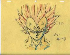 Majin Vegeta original animation sketch. #SonGokuKakarot