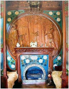 Wow. Just wow...I'd have to edit, but boy that mantelpiece is gorgeous.