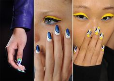 Spring/ Summer 2014 Nail Art Trends - creative nails as soon at Zac Posen and Nicole Miller