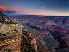Amanhecer no Grand Canyon... Estava cedo e frio mas valeu a pena  Normalmente o Grand Canyon eh aquela coisa alaranjada pegar a atmosfera ainda fria deixa ele com essas cores   Canon 6d \ Lens: Canon 17-40mm f4 L \ Shutter: 1/4s \ Aperture: f8 \ ISO: 100 \ Filter: reverse graduated nd 0.9 HITECH  Fotos disponíveis para compra. Contato: piresss@gmail.com by piresss