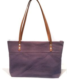 27af872b1b28 Stormy Purple Waxed Canvas Shoulder Bag