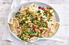 Fusilli met groente en ham-kaassaus - Recept - Allerhande