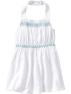 Smocked Halter Dresses for Baby (old navy)
