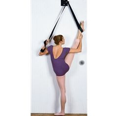 The absolute best in flexibility! Completely portable, it easily slips on the top or bottom of any door. The I-Flex Dance Stretch Unit stretch unit allows you to safely and slowly stretch through a co