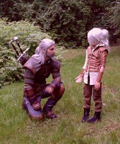 Opiekun Cosplay The Witcher 3 Wiedźmin Geralt i Ciri Cirilla