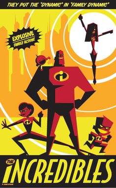 The Incredibles - Disney Studio Art