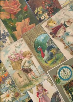 Nice! Vintage/Antique Lot of 1900's Holiday/Greetings Postcards- 25 Cards--a485 #HolidaysGreetings