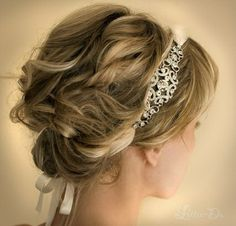 Wedding hair; really leaning towards having some type of headband.