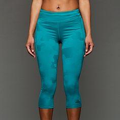 adidas Womens Adistar 3/4 Tights - Eqt Green S16