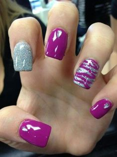 Want some ideas for wedding nail polish designs? This article is a collection of our favorite nail polish designs for your special day. Zebra Nail Designs, Nail Polish Designs, Cute Nails, Pretty Nails, My Nails, Pretty Toes, Zebra Nails, Purple Nails, Wedding Nail Polish