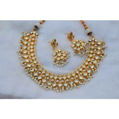 Stunning Kundan Pearl Set Ethnic Jewelry, Indian Jewelry, Jewellery, Pearl Set, Diamond, Metal, Stuff To Buy, Beautiful, Jewels