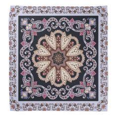 Purple elegant circular Ornament Design Bandana